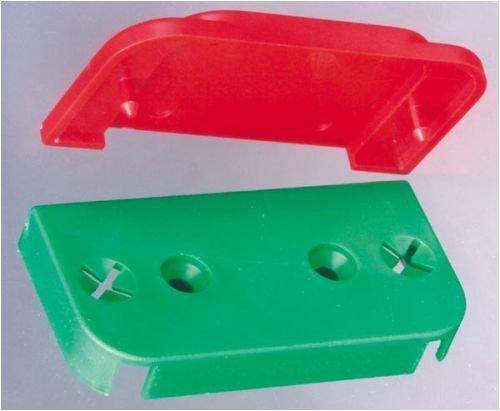 0366. Ersatzteile für Fluchthaube E Unterplatten für Haubenbefestigung, grün