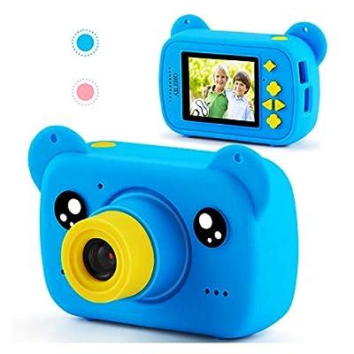 AILEHO Kids Camera for Boys Girls Bear Cartoon Birthday Children Toy Toddler Camera 3-10 Year Old Starter Kids Digital Camera 8M 1080P with 8G Card Kids Video Camera by AILEHO