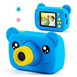 AILEHO Kids Camera for Boy Blue Bear Cartoon Birthday Children Toy Toddler Camera 3-10 Year Old Starter Kids Digital Camera 8M 1080P with 8G Card Kids Game Camera IPS 2.0""