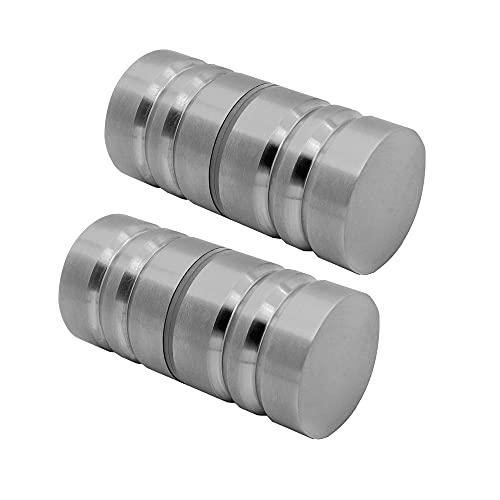 Glastürgriffe Edelstahl Griff Glänzend 3cm Glas-Türbeschlag Duschtür-Knopf Knauf Duschtürgriff Türgriff Bad-Tür, Variante:Modell 2 - matt - 2 Stück