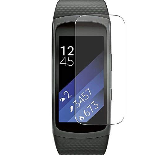 Vaxson 3 Unidades Protector de Pantalla, compatible con Samsung Gear Fit 2 Smart Watch [No Vidrio Templado] TPU Película Protectora Reloj Inteligente Film Guard Nueva Versión