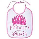 Babero Soy la princesa de mi abuela - Rosa