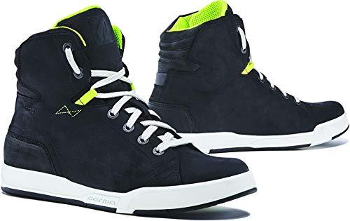 Forma Sneakers voor motorfiets, Swift Dry WP, CE-gecertificeerd 38 EU Zwart en wit.