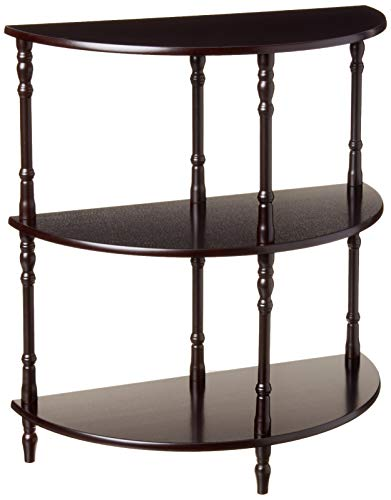 Frenchi Home Furnishing Wood 3-Tier Crescent ,Half Moon ,Hall / Console Table/End Table