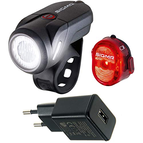 Sigma Sport Aura 35USB/Nugget Beleuchtungsset (schwarz mit USB-Netzteil)