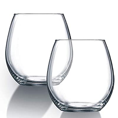 Chef's Star Shatter-Resistant Stemless Wine Glass Set 15 Ounce (2pack)