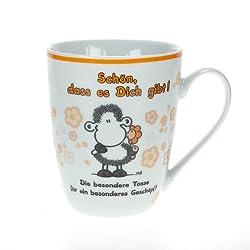 """Sheepworld 59211 Lieblingstasse """"Schön, dass es Dich gibt!"""", Porzellan"""