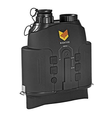 Nightfox 110R - Prismáticos de visión nocturna por infrarrojo digital - Visor panorámico - Función de grabado - 150m de alcance