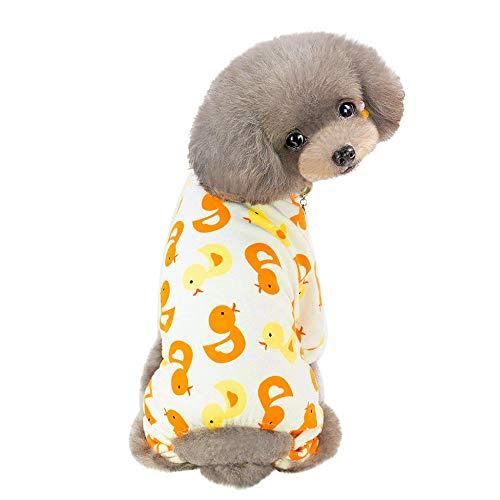 ZEZKT Mascota Primavera y Verano impresión Vestido Trajes de Perro Ropa de Mascota Ropa casera para Perros y Gatos Disfraz de Mascota Linda de Dibujos Animados 16