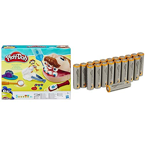 Play-Doh Doctor Drill 'n Fill Set with Amazon Basics Batteries