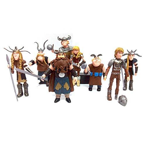 SAFAL Cómo Entrenar a tu muñeca dragón 8 Piezas Personajes de la película Modelo Muñecas de Juguete Regalos de cumpleaños, Fiestas