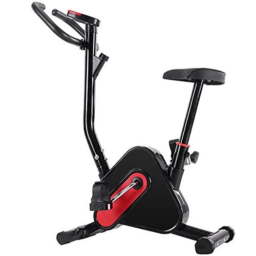 PPuujia Equipo de fitness Bicicleta de spinning con correa para bicicleta estática con asiento para entrenamiento en casa, gimnasio, deportes, equipo de fitness interior (color: negro)