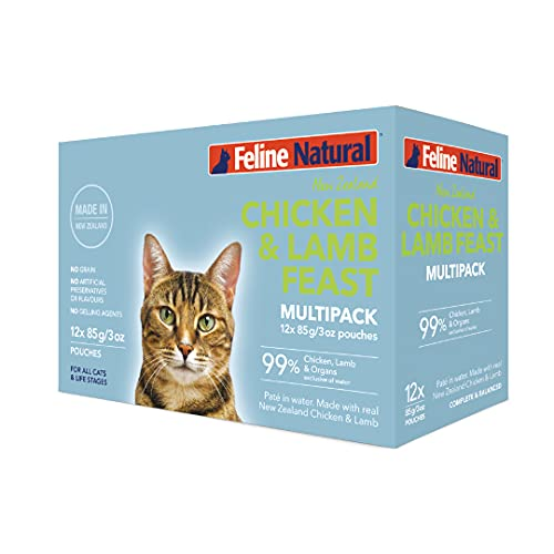 Feline Natural Chicken & Lamb Grain-Free Pouch Cat Food