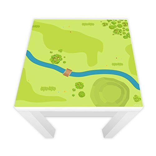 nikima Schönes für Kinder Spielfolie für Lack Tisch 54x54 cm Wald & Wiese (Möbel Nicht Inklusive)