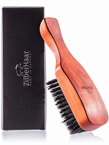 ZilberHaar Major Hair & Beard Brush with Soft Bristles - Natural Boar Bristles & Pear Wood - All Beard & Hair Types - Perfect Grooming Tool for Any Men - For All Beard/Hair Types - Made in Germany