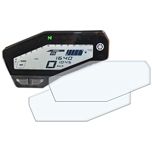 2x YAMAHA MT-09 / FZ-09 Displayschutzfolie Tachoschutzfolie Screen Protector - Ultra Clear