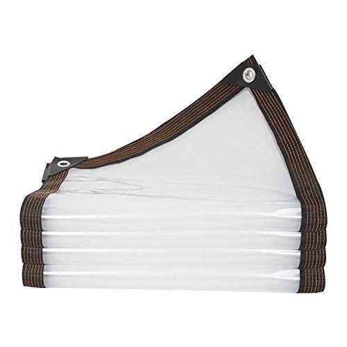 FOGUO Lona Impermeable De Protección8x10m, Lona Transparente Impermeable Y Termica, Toldo Reforzado Gramaje, Lona para Piscina Rectangular, con Ojetes Metálicos, Resistente A La Intemperie