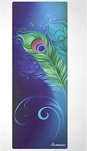 BBZZ Esterillas de yoga para el hogar antideslizante femenino acolchado toalla portátil plegable Mat Home Fitness Yoga manta 183 × 68 cm