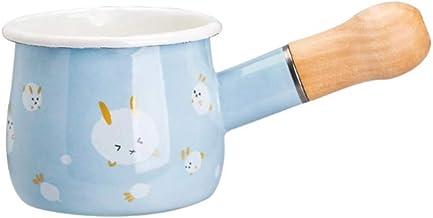 NXYCG Mini Enamel Small Pot Household Small Milk Pot Sauce Pot Single Handle Water Cup