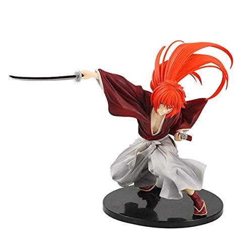 Anime Character Model Rurouni Kenshin Figure Himura Character Movable Doll Set Anime Doll Model Character Model Toy Multicolor Gift Box Handmade Battle Scene Ornaments 7.48 Inch