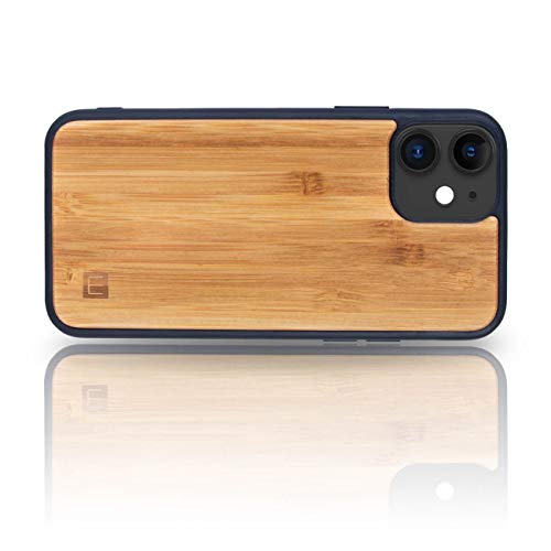 WOLA Handyhülle für iPhone 12 und iPhone 12 Pro Hülle Holz Wood Holzhülle Case Bambus