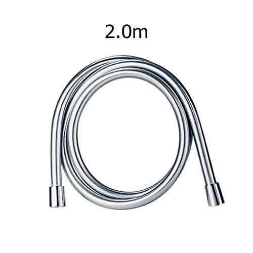 NLJYSH 1 PC de Alta presión de PVC de 1,5 m / 2m PVC Suave Ducha de Manguera for el baño Ducha de Mano Manguera de la Ducha Cabeza Flexible (Color : 2M)