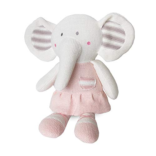 Living Textiles Baby Knit Plush Toy w/Rattle - Amy Mermaid - Premium...