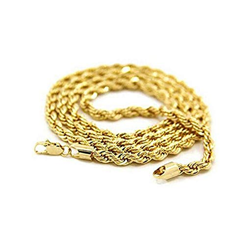 LEORX Mode für Männer Boys drehbar Style 24K Gold Vergoldet Anhänger Halskette (Goldene)