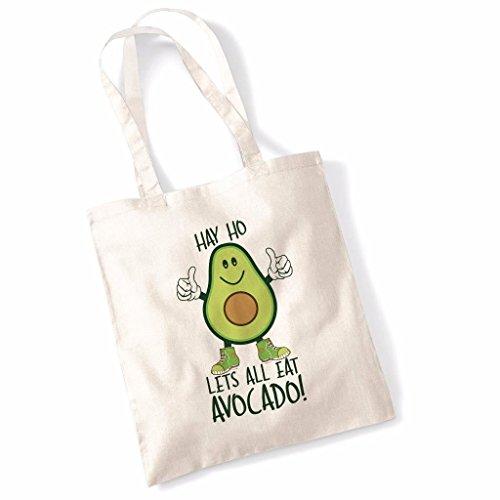 Hay Ho Lets All Eat Avocado Tote Bag - Natural