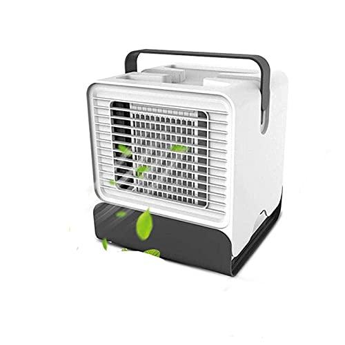LXSH Aire Acondicionado Portátil y Calentador De Aire Acondicionado Silencioso 5.9in Aire Acondicionado Portátil para El Hogar Ventilador De Aire Acondicionado con USB,White