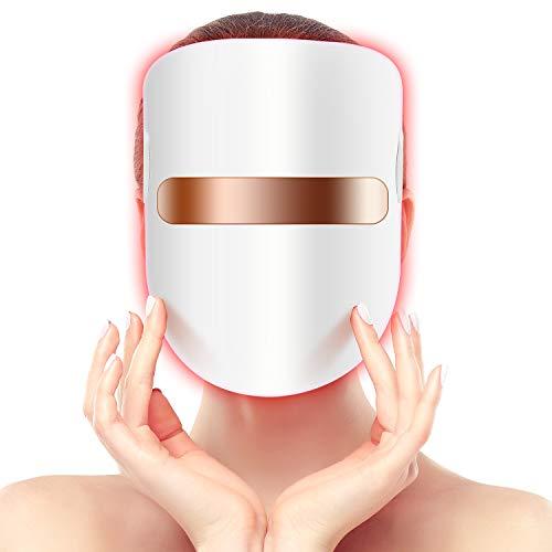 Hangsun - Maschera a LED per trattamento dell'acne...
