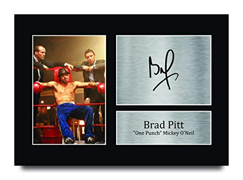 HWC Trading - Immagine con autografo con scritta 'Brad Pitt Snatch Mickey O'Neill', formato A4