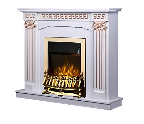 Art Flame, Chimenea eléctrica Calisto y Galileo Gold, 2000 W, Calefacción de superficie 20 m²