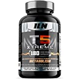 T5 Xtreme for Men and Women - HIGH in CHROMIUM which contributes to normal macronutrient METABOLISM & the maintenance of normal BLOOD GLUCOSE LEVELS - 180 Vegetarian Capsules