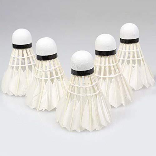 Greatangle 5pcs Piuma D'Oca volano Uccello Bianco Badminton Palla Gioco Sport Formazione Calda promozione Bianco