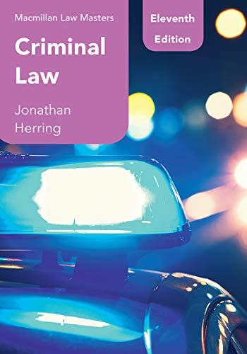 Criminal Law (Macmillan Law Masters) (English Edition)