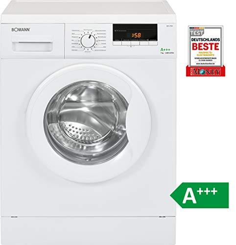 Bomann WA 5729 Waschmaschine Frontlader / EEK A+++ / 7 kg / 16 Programme / 1400 UpM / LED-Display / Schaumregulierung