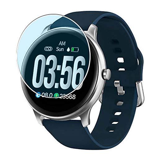 Vaxson 3 Stück Anti Blaulicht Schutzfolie, kompatibel mit Kingwear G5 Smartwatch smartwatch, Displayschutzfolie Anti Blue Light [nicht Panzerglas]