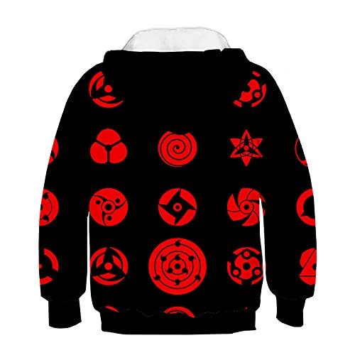 Men Hokage Ninjia Naruto Printed Drawstring Unisex Hooded Cool Long Sleeve Loose Fit Hoodies-A1_5XL