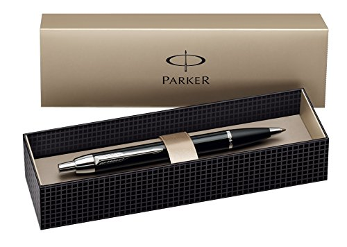 Parker IM Royal Blue Chrome Trim Ballpoint Pen