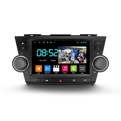 Autoradio Coche Bluetooth 2 Din Android Radio De Coche 9'' Pantalla Táctil Wifi Plug And Play Completo RCA SWC Soporte Carautoplay/GPS/DAB+/OBDII Para Toyota Highlander 2,Octa core,4G Wifi 6G+128G
