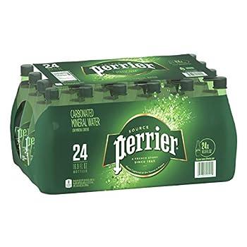 Perrier Carbonated Mineral Water 16.9 Fl Oz  24 Pack  Plastic Bottles