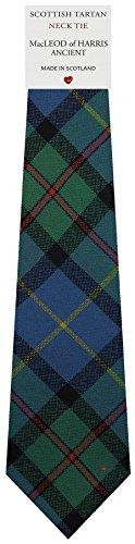 I Luv Ltd Cravate en Laine pour Homme Tissée et Fabriquée en Ecosse à MacLeod of Harris Ancient Tartan