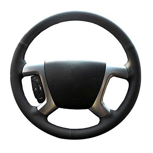 HJPOQZ Cubierta de Cuero Negro para Volante de Coche, Apta para Cubiertas de dirección Cosidas a Mano Chevrolet Captiva Epica