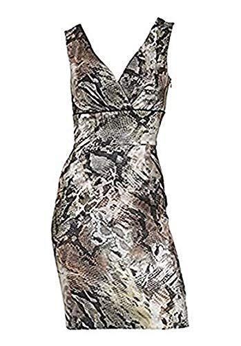 Patrizia Dini Kleid mit Snake Print Bunt Gr. 44