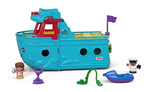 Fisher-Price FXJ47 - Little People Schiff mit Figuren und Zubehör, deutschsprachig, Kleinkind Spielzeug ab 1 Jahr