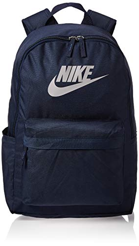 Nike Unisex's NK HERITAGE BKPK - 2.0 Sports Backpack, Obsidian/Obsidian/(Atmosphere Grey), MISC