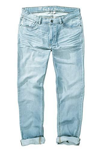 JP 1880 Herren große Größen bis 66, Jeans aus Denim, hell gebleached, tiefere Leibhöhe, schmalere Bein- und Fußweite Bleached Denim 62 714438 92-62