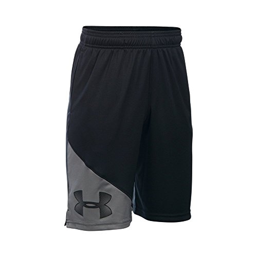 Under Armour Boys' Tech Shorts, Black /Black, Youth Large