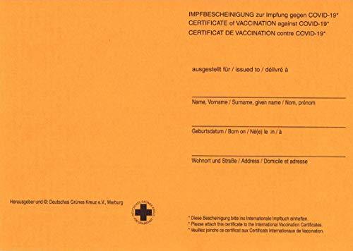 COVID-19 Impfbescheinigung Bescheinigung Internationaler Impfpflicht Impfung (5 Stück)